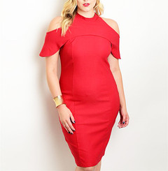 RED SHOWSTOPPER DRESS (PLUS+)