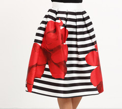 PETALS  & STRIPES SKIRT