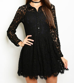 LACE TO LACE DRESS
