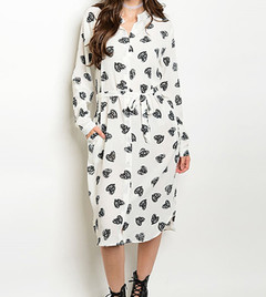 FROM THE HEART SHIRT DRESS