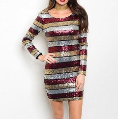 SEQUINS OF EVENTS DRESS