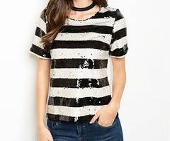 SPARKLY STRIPED TOP