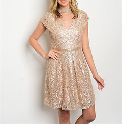 GRACEFUL LACE DRESS - PLUS+