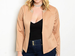 NUDE SPANGLED JACKET - PLUS+