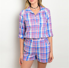 MAD ABOUT MADRAS ROMPER