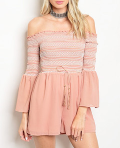 CONFIDENT IN BLUSH ROMPER