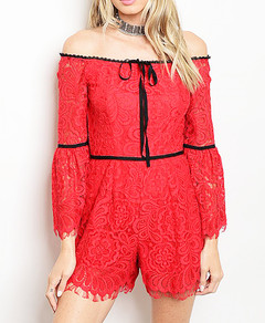 IMPRESS ME WITH LACE ROMPER