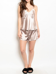SATIN CAMI & SHORTS PAJAMA SET