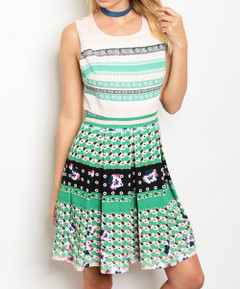 MIXMASTER OF PATTERNS DRESS