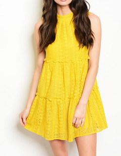 SAFFRON LACE SWING DRESS