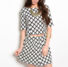 GRIDLOCK 2-PIECE DRESS