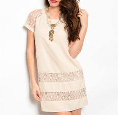 NO ORDINARY BEIGE DRESS
