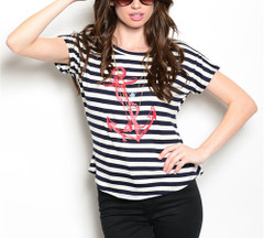 AHOY MATEY STRIPED TOP