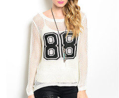 NUMBER 88 OPEN KNIT TOP