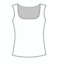 Sleeveless Square Neck (109T)
