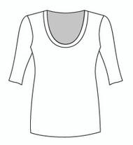 Half Sleeve Tunic U Neck (006H)
