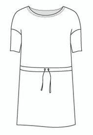 Half Sleeve Drawstring Dress (DR981H)
