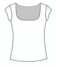 Cap Sleeve Square Neck (109C)