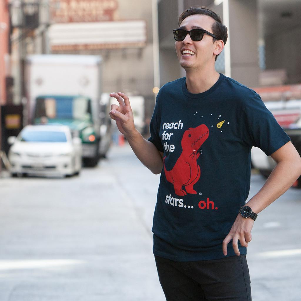 Reach For The Stars Dinosaur Men's T-Shirt