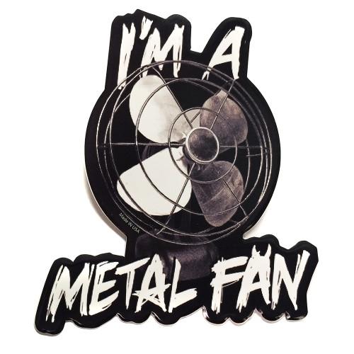Metal Fan Sticker