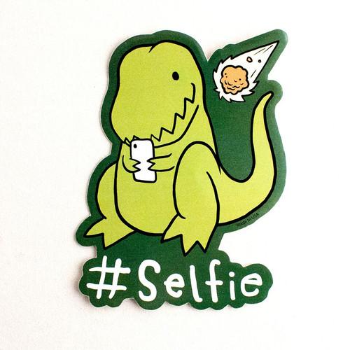 Selfie Dino Sticker