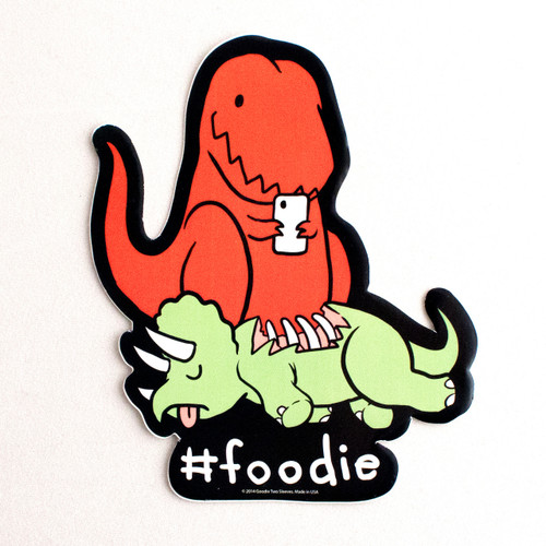 Foodie Dino Sticker