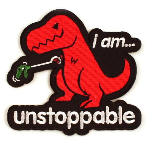 Unstoppable Dinosaur Iron-On Patch