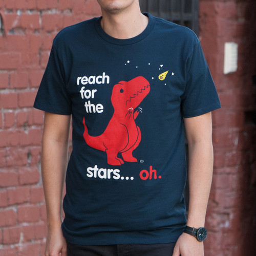 Reach For The Stars Dinosaur Men's T-Shirt