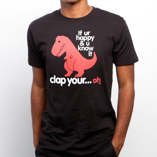 Sad T-Rex | Clap Your Oh Men's T-Shirt