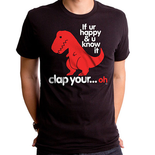 Sad T-Rex | Clap Your Oh Men's T-Shirt