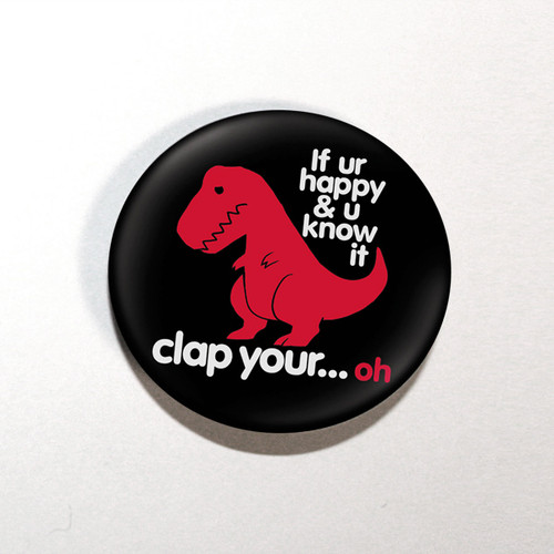 "Sad T-Rex 1.25"" Button"
