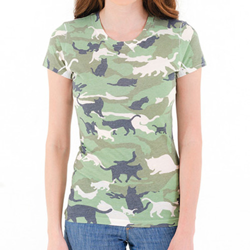 Catmouflage Cat Camo Women's Sublimated T-Shirt