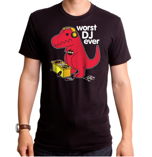 Guys Worst DJ Ever Dino T-Shirt