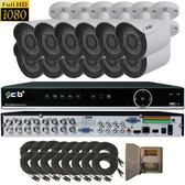 High Definition Full HD 16CH 1080P DVR system with 12 2Megapixel Bullet Camera Network Remote Viewing --- H80P16K2T56W-12KIT