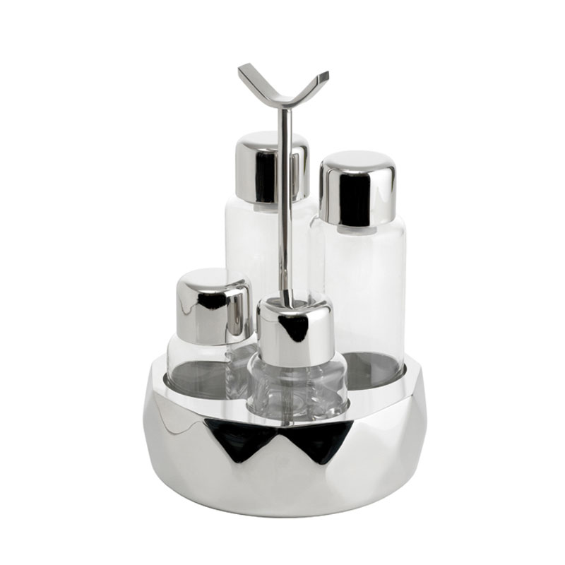 Sambonet Cruet Set white background.