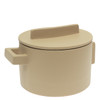 thumbnail image of Sambonet Terra Cotto Saucepot, 2 handles with lid, Saffron