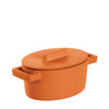 thumbnail image of Sambonet Terra Cotto Cast Iron Oval Casserole with Lid, Curry, 5 x 4 inch
