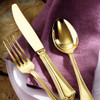 thumbnail image of Filet Toiras Gold 18/10 Stainless Steel 5 pcs Place Setting, solid handle