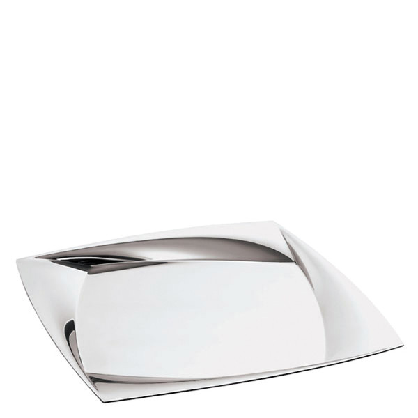 Lucy Stainless Steel Square tray, 14 1/8 x 14 1/8 inch