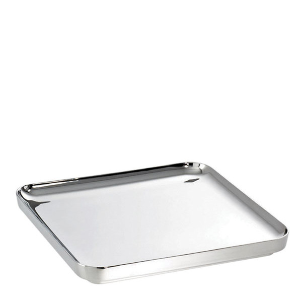 T Light Stainless Steel Square tray, 13 3/4 x 13 3/4 inch