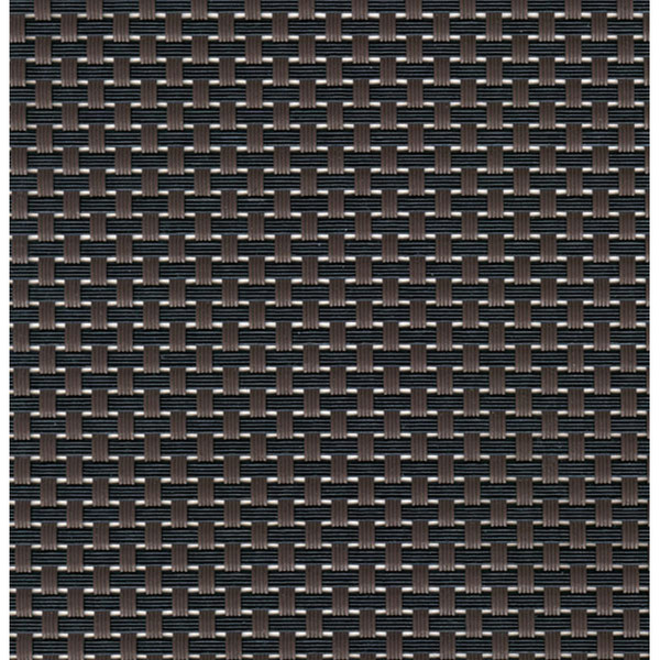 Sambonet Linea Q Table Mats Table mat, brown - black, 16 1/2 x 13 inch