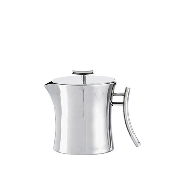 Bamboo Stainless Steel Tea pot, 13 1/2 ounce