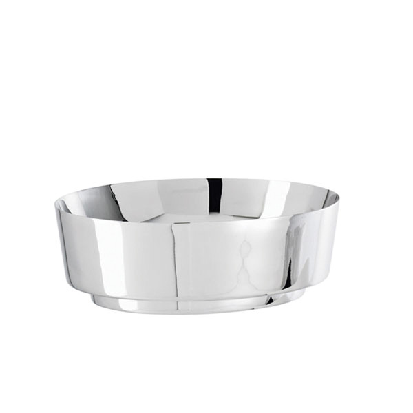 T Light Stainless Steel Oval bowl, 8 1/4 x 7 1/8 inch