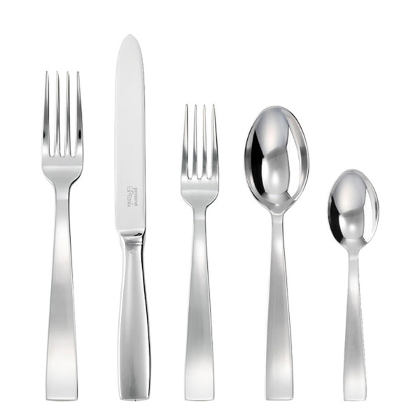 Gio Ponti 18/10 Stainless Steel 5 Pcs Place Setting (hollow handle knife)