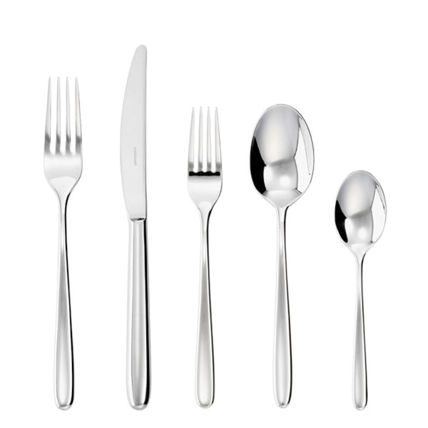 Hannah 18/10 Stainless Steel 5 Pcs Place Setting (solid handle knife)