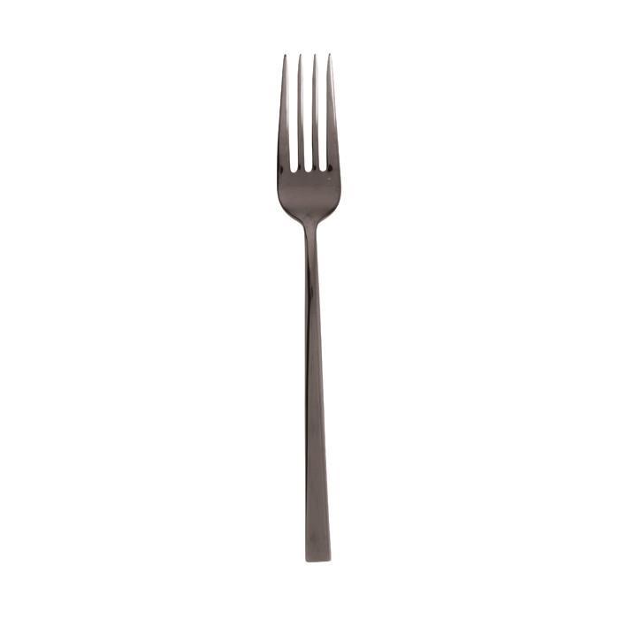 Linea Q Black Stainless Steel Dessert Fork |
