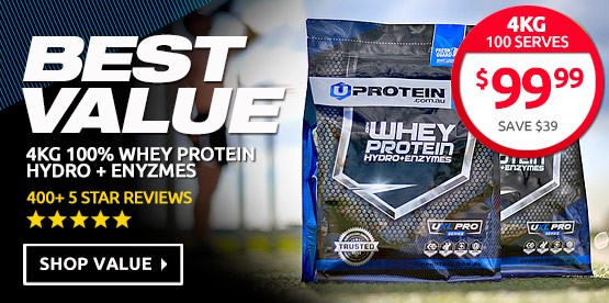 4kg Uprotein 100% Whey Protein Hydro + Enzymes