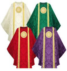 Gothic Chasuble in Rafael fabric with IHS Embroidery