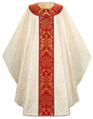 Gothic Chasuble with Brocade Orphreys