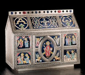 Chest Style Large Tabernacle with Celtic Ornamentation (Enameled)